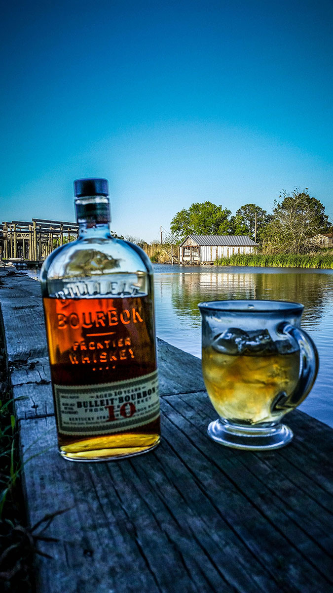Finish the day on the bayou with my favorite bourbon...
