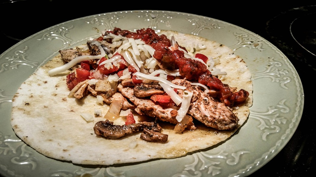 Made up for a slow morning in the blind by getting crafty in the kitchen.  Turned some pheasant into fajitas for lunch...